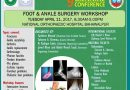 FOOT AND ANKLE SURGERY WORKSHOP Bahawalpur, Pakistan, April 11, 2017