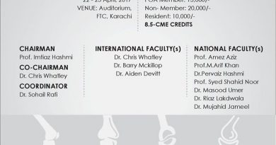 2nd Primary Total Knee Arthroplasty Course and Workshop 22- 23 April Karachi Pakistan