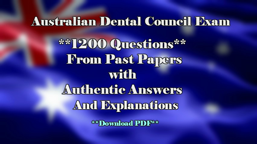 ADC Past Papers with Answers and Explanations (Complete Set in Pdf
