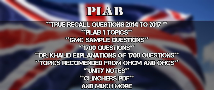 All in One File for PLAB [Complete Stuff for PLAB] – CME & CDE