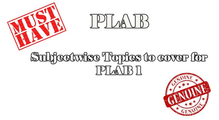 Subjectwise PLAB DOABLE (Download Pdf) | CME & CDE