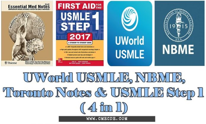 Download UWorld USMLE, NBME, Toronto Notes and USMLE Step 1