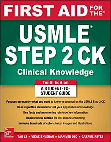 Download First Aid for the USMLE Step 2 CK 10th Edition PDF