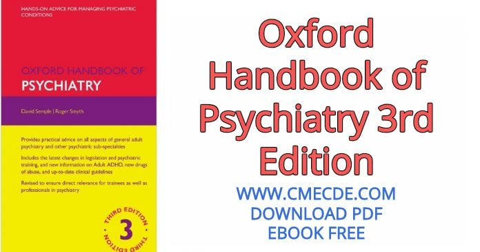 Download Oxford Handbook of Psychiatry 3rd Edition PDF Free