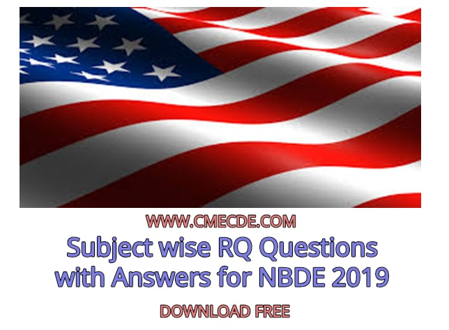 Download Subject wise RQ Questions with Answers for NBDE